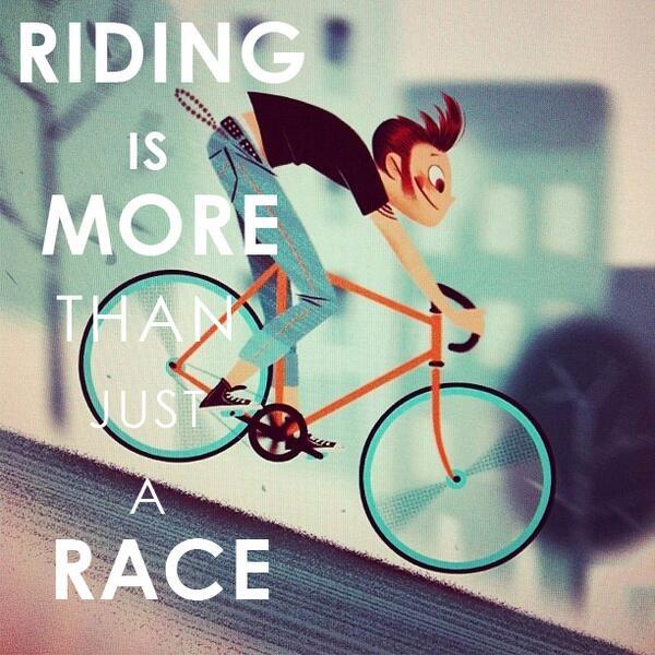 Buat yang hobi commuting dengan sepeda, mungkin ini quote yang tepat untuk kalian~ Have a nice day, cyclists ! http://t.co/QB7mIvLoOT