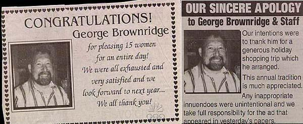 BWAHAHAha!! RT @ThePoke: Classified advertising apology of the day http://t.co/ZhCd2kRUPx