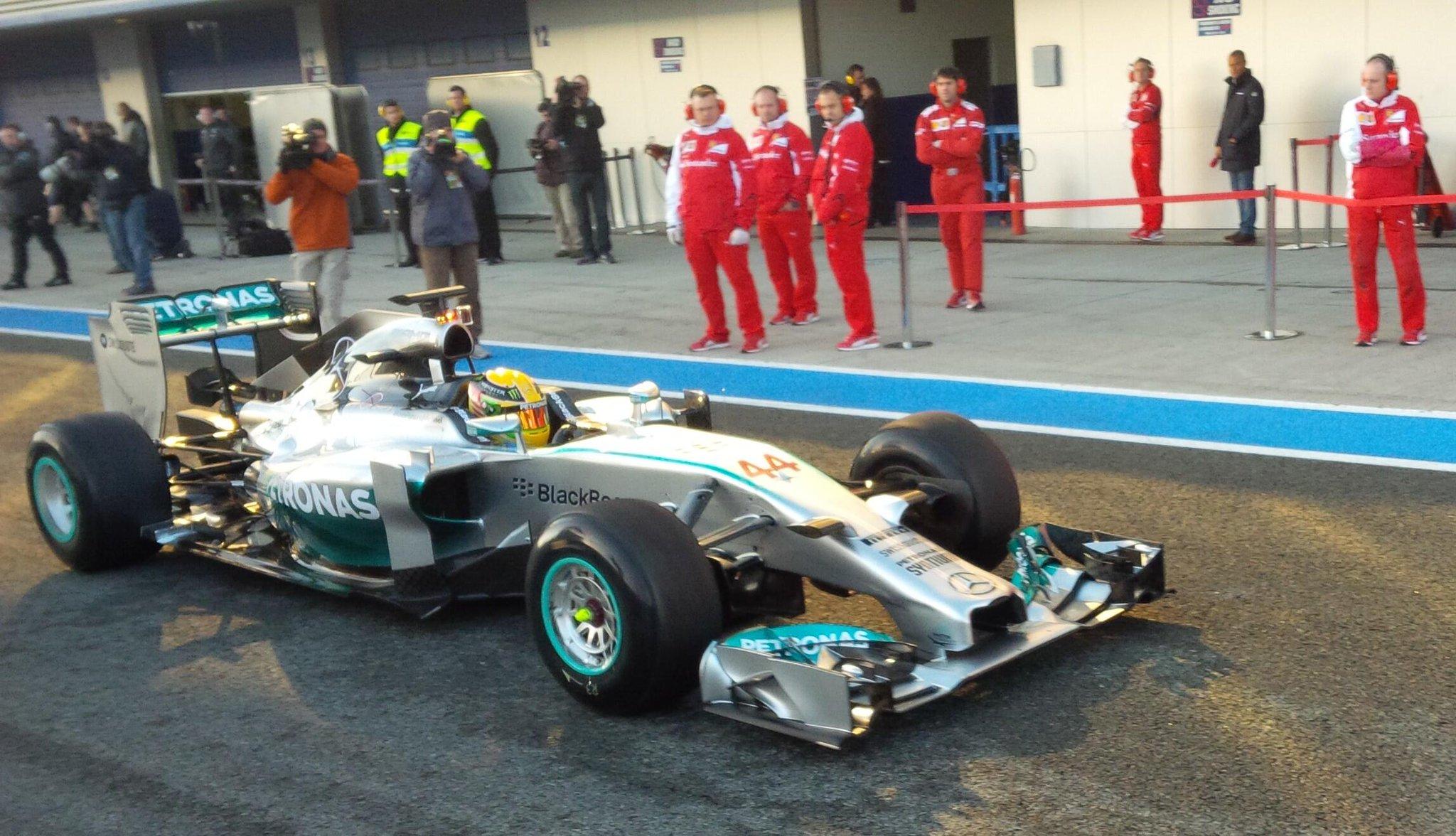 Hamilton Mercedes W05