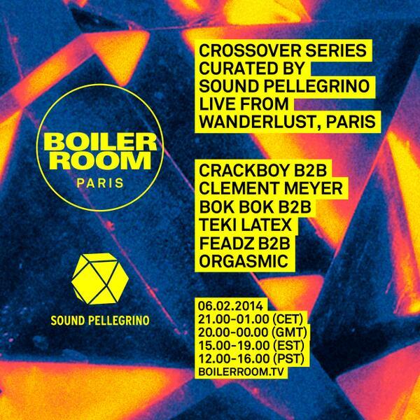 BOILER ROOM x SOUND PELLEGRINO CROSSOVER SERIES PARIS, 06.02.2014 http://t.co/zfPNfHzv6v #SNDPE http://t.co/m4uV1KwI38