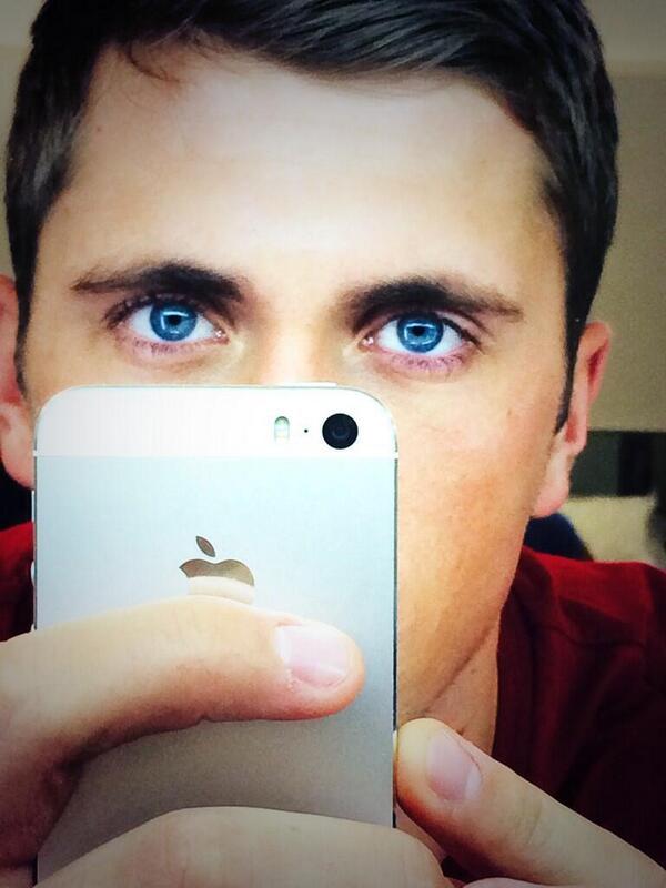Piercing blue eyes