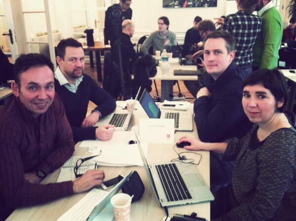 Go go go ! MT @chouing: @ouestfrancefr en image avec @ericbu35 @lfretigne + Annaick Leclerc + Sylvain Durand #HDM14 http://t.co/NmUnlYhgYF