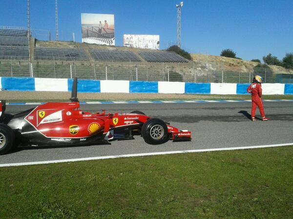 Alonso problema ferrari f14 t jerez