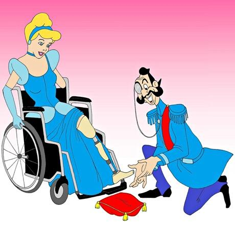 Princesses disabled disney