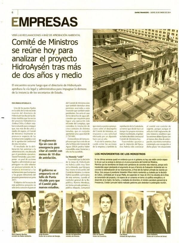 ATENTOS! Hoy de sorpresa el equipo del presidente Piñera verá si aprueba o rechaza @HidroAysen ¡URGENTE DIFUNDIR! http://t.co/sixh9SEV0q