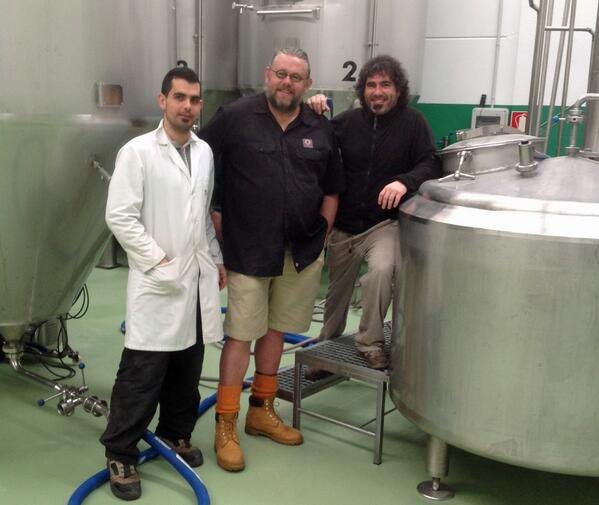 Today we are brewing a collaboration beer with @Naparbier! A Black IPA called Black Rain. http://t.co/4InFmoKqgj