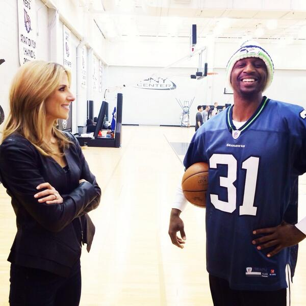 "Just wrapped with @BrooklynNets @jasonterry31 - ""The Jet"" is a diehard @Seahawks fan!! We played a game of  ""Hawks"" http://t.co/kPqu68Ak6l"