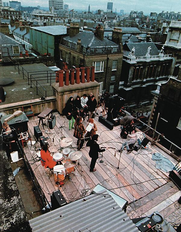 The Beatles' rooftop concert on the Apple HQ happened 45 years ago today.  Read all about it: http://t.co/2AMvC7a9an http://t.co/uWgqEaxlkB