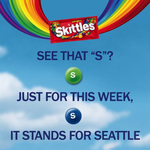 "See that ""S""? Just for this week, it stands for Seattle. http://t.co/TzqLw6llJa"