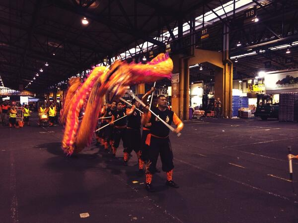 Chinese New Year celebration meets the Melbourne Wholesale Fruit & Vegetable Market! http://t.co/igj9ZKIbpR