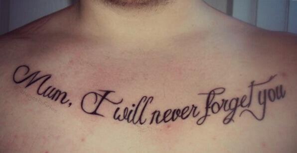 Moda Tatuajes Sur Twitter Tatuaje Con La Frase Mama