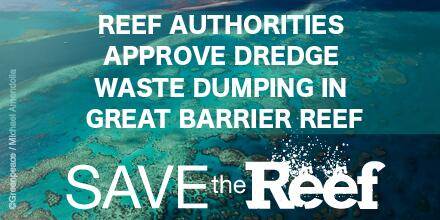 Twitter / GreenpeaceAustP: BREAKING: Reef authorities ...