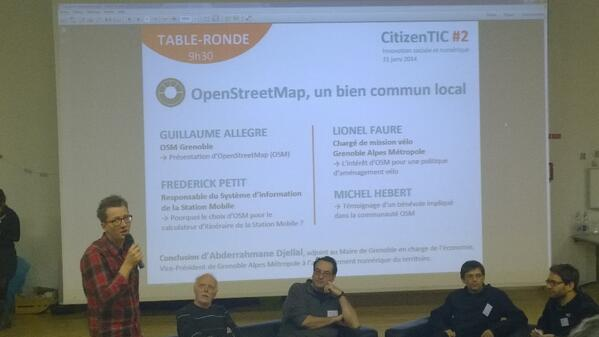 Les intervenants de #citizentic #osm http://t.co/QxrrWEvalh