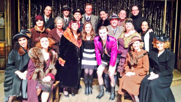 SpotLight Spokesperson and Tony nominee @LauraOsnes visits the cast of #CABARET! @theaterlatteda http://t.co/pYcaICjP2Q