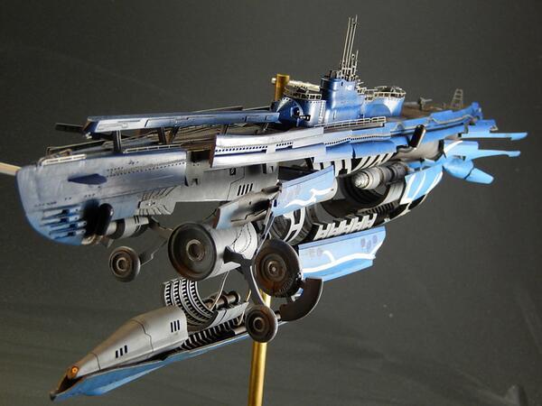 2/9のWFで模型3誌からの「蒼き鋼のアルペジオ」作例が展示されます。私の作例は1/350「イ401超重砲ver.」が展示予定です。よろしくです!  http://t.co/tjdKmFwfSg #アルペジオ http://t.co/Yp8ZrdUCfw