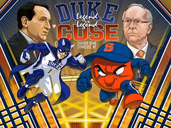 .@MBorkowski's incredible drawing for the #BeatDuke game http://t.co/g7OoFofJVh