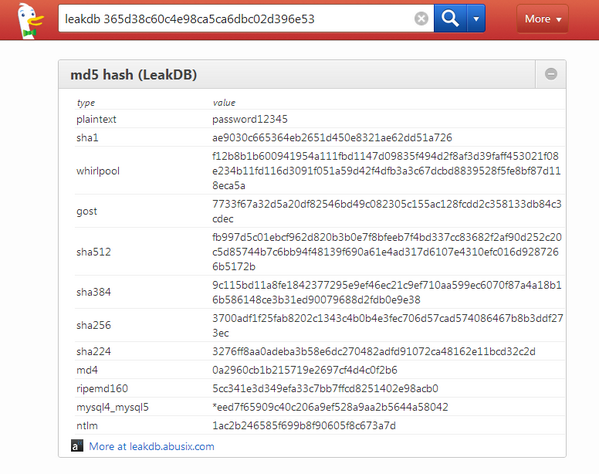 DuckDuckGo can decrypt Password Hashes for you instantly — LowEndTalk