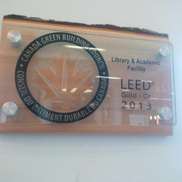 Did you know that @centennialc Progress campus' library is a #LEEDS gold building!? #sustainable #green http://t.co/b6QGCXXSe9