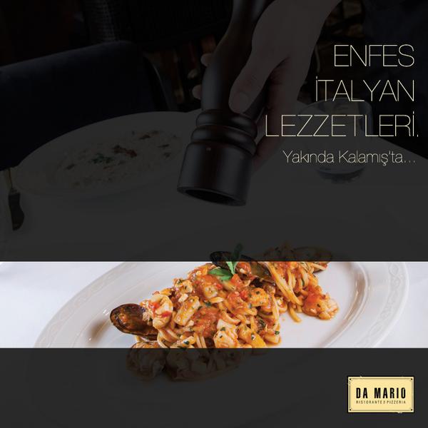 İtalyan mutfağı severlerin vazgeçilmez adresi! #damario http://t.co/E21YASTZSJ