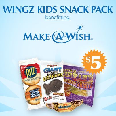 Beginning Feb. 1, we will donate $1 from every inflight purchase of our Wingz Kids Snack Packs to @MakeAWish. http://t.co/T1pFMHFs9f