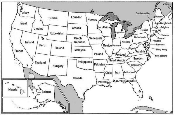 Amazing Maps On Twitter US States Renamed As Countries Of - Us map gdp countries