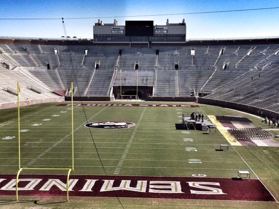 Doak Campbell Stadium getting set up for tomorrow's celebration of a #Noles national championship: http://t.co/xfLf8euAf0