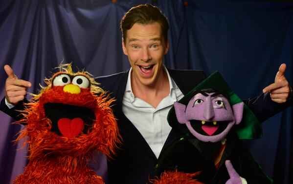 Surprise! Benedict Cumberbatch sheds the serious Sherlock to share some laughs w/ these 2 - stay tuned! #Counterbatch http://t.co/SWbhLezClX