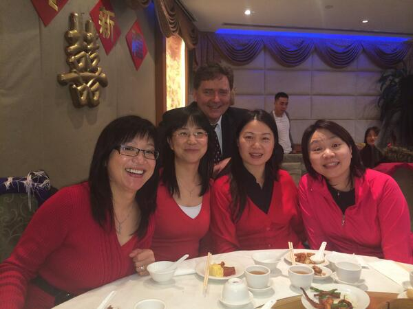 Celebrating Chinese New Year with some of our Finance Team at AQN. iI's The Year of the Horse & we're off & running.