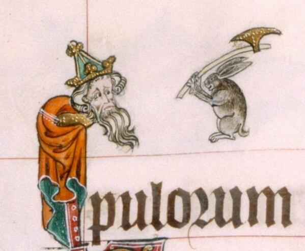 The axe-wielding Psychobunny of medieval times.