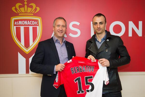 Dimitar Berbatov presented at Monaco on loan from Fulham