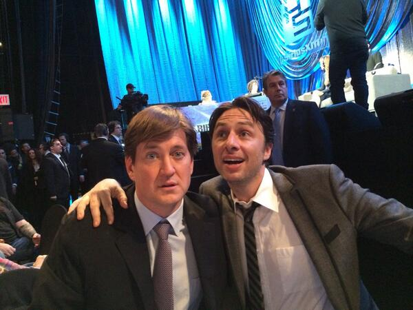 .@zachbraff  and I at Howard's bash rebooting scrubs because I'm out of ideas and dead inside. http://t.co/FdLUC8owA3