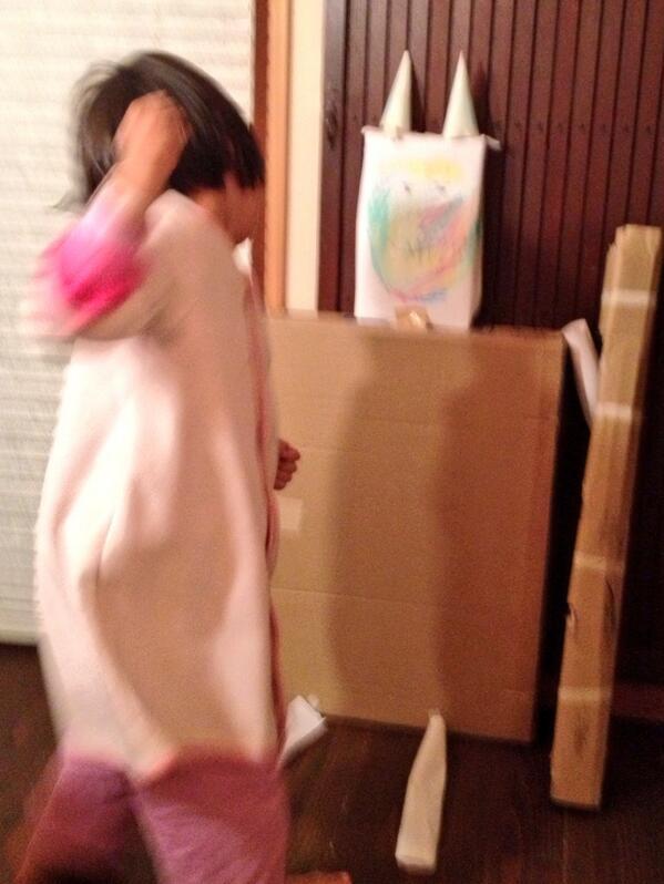 先ほど帰宅したら、娘が節分の鬼を倒すべく壮絶な自主トレを繰り広げていました。 pic.twitter.com/odfYN9AUe4