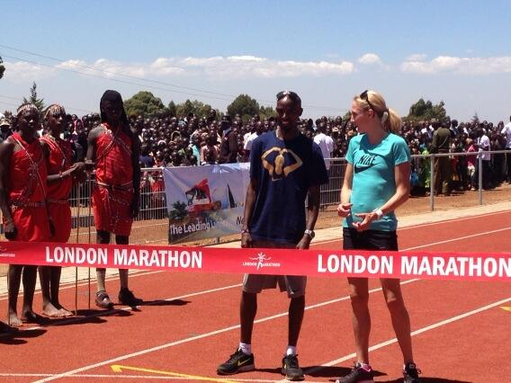 Rarely seen on a track together in public these days @Mo_Farah and @paulajradcliffe #distance legends #kenya http://t.co/OtWxWCrPQF