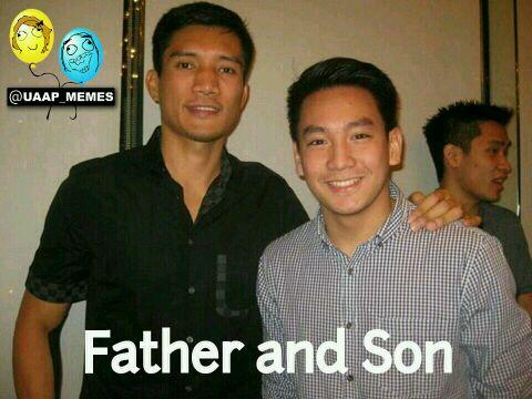 Uaapmemes On Twitter Father And Son James Yap And Bimby Thomas Http T Co Gksuvuqpkm