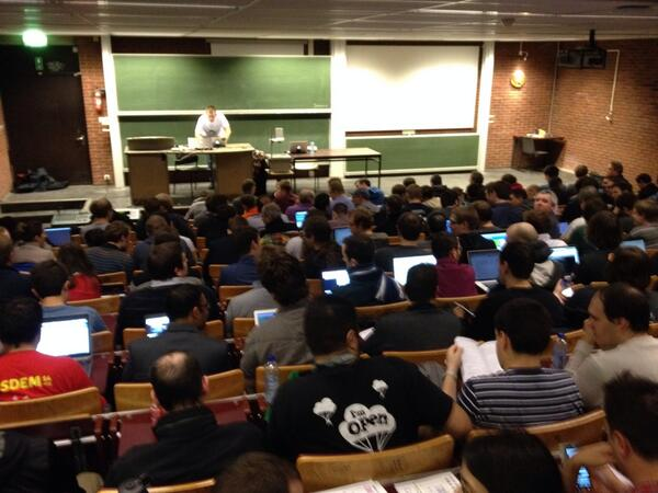 "And there's still a crowd outside - ""@jeffweiss: Full house in the #FOSDEM configuration management room http://t.co/Q3qZWHE7Mk"""