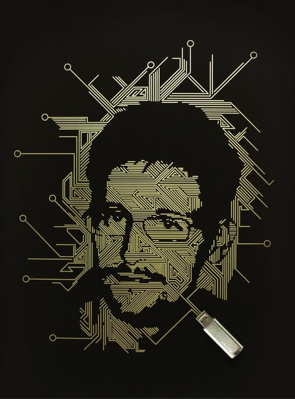 My laser etched portrait of Edward Snowden in today's Guardian Weekend http://t.co/Ojanjpstgs