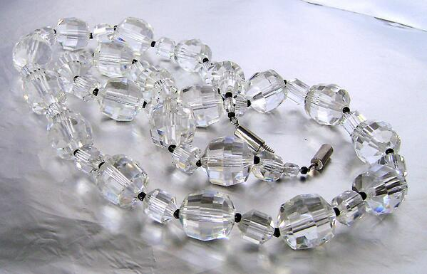 Radiant #Art Deco Cut #Crystal faceted #necklace 1930's Flapper era  by JustSparkles http://t.co/LkJQ9HwWFu @Etsy http://t.co/s7OQpy3Lcf