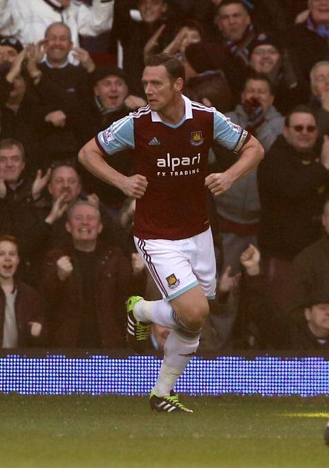 Kevin Nolan does his chicken dance celebration after brace v Swansea