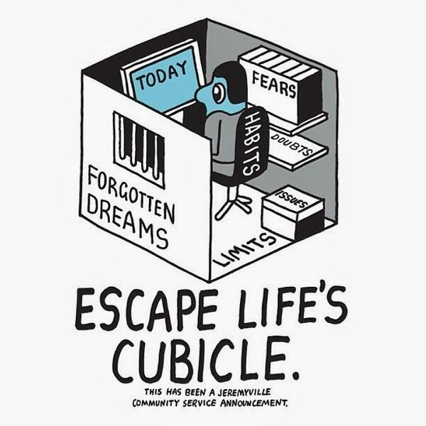 Escape life's cubicle... http://t.co/uMWYOshEwr http://t.co/sM4yBxNXT3