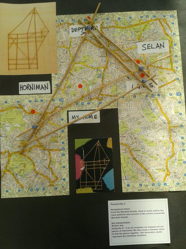One fieldworker was inspired by a Marshall Island navigation chart to make their own navigation map of #London http://t.co/Zzink5vb21