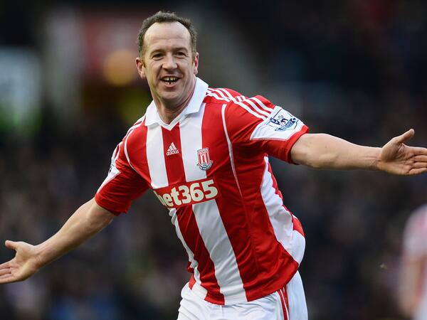 What a chancer! Charlie Adam celebrates flukey free kick v United as if he meant it