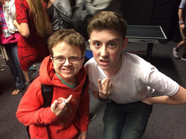 Awesome meeting @TrevorMoran tonight @FANaticsTour Go buy #thedarkside on @itunes http://t.co/9kTvjaJA5w