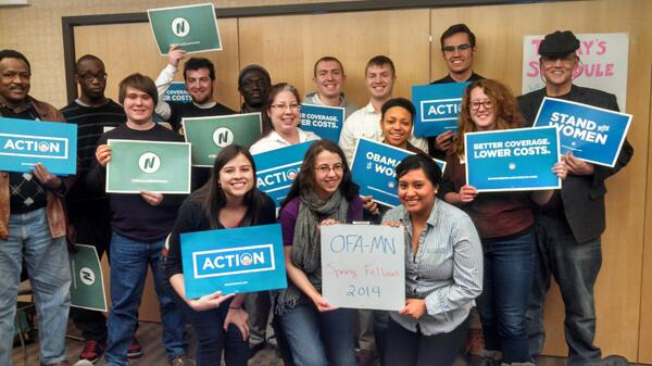 Minnesota is fired up and ready to organize! #OFAction #OFAFellows http://t.co/gkCUwl0mgr
