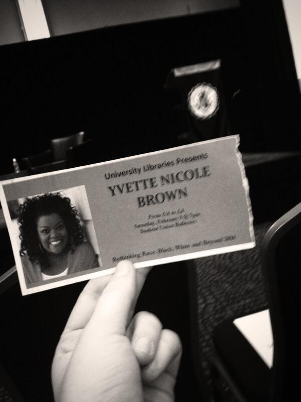 Second row to see @yvettenbrown 😍 I'm the most excited person here, guarantee it! #UA #RethinkingRace http://t.co/s40OJ6k8Hh