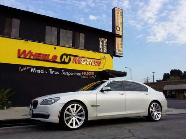 WHEELS N MOTION On Twitter 2011 BMW 750LI 22 Forgiato Forged Wheels Style Concavo All Brushed Finish Continental Tires ForgiatoWheels