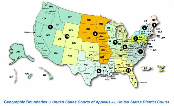 Geographic Boundaries PowerPoint Presentation How To Lawfully - Map of us circuit court of appeals