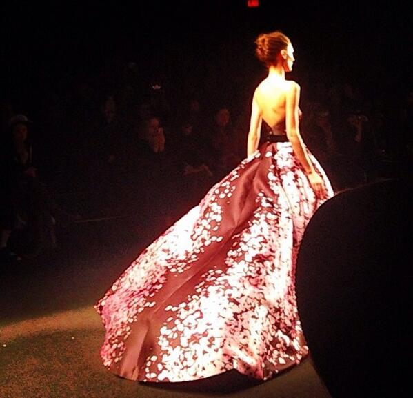 Pure elegance on the runway at @M_Lhuillier #NYFW http://t.co/hBvDBDA2jw