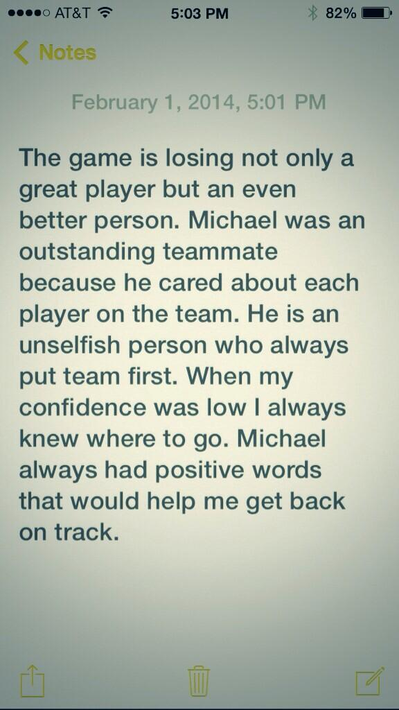 Had a few minutes so I wrote down a few thoughts on Michael Young #favoriteteammate http://t.co/KptjYLiN6M