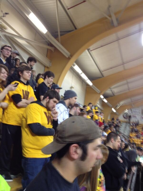 @WMUtheZoo in full force today! #BeatCMU http://t.co/79KellgbN1