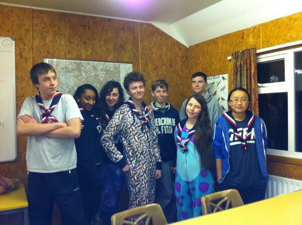 @ukcontingent Barnet Scouts at 1st @GLNJamboree2015 training w/e already cracking out the onesies #GLN #Japan2015 http://t.co/MXOGDgLhqD